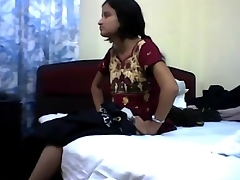 Sex and big O with Indian girl in missionary