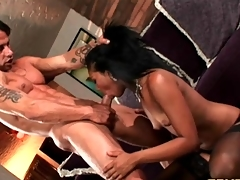 Small Indian chick rides a cock with her vagina