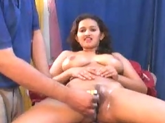 Shaving her pussy and then fucking it