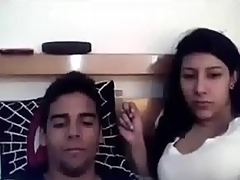 Nasty busty Indian girlfriend deepthroats me off previous to doggyfucking